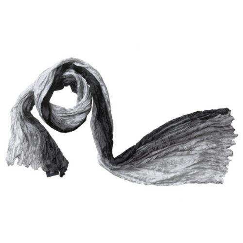 silketørklæde 11 tørklæde sort grå silke
