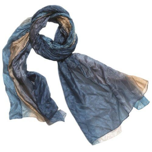 silketørklæde tørklæde silke denim beige eccu 236