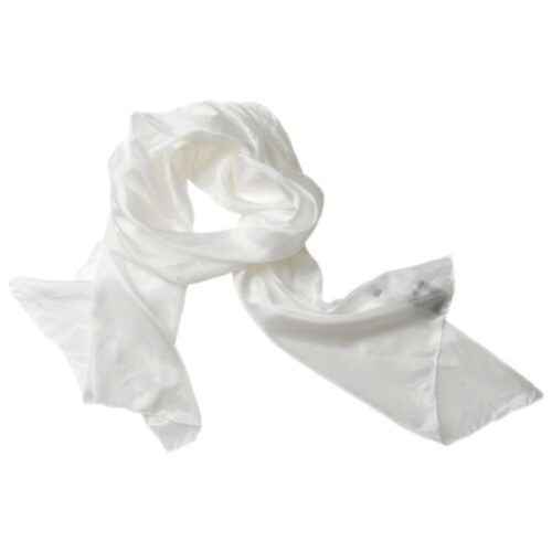 silketørklæde tørklæde hvid 00 1658