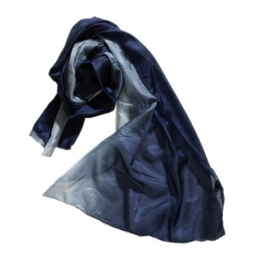 denim blåt tørklæde silketørklæde silke 28