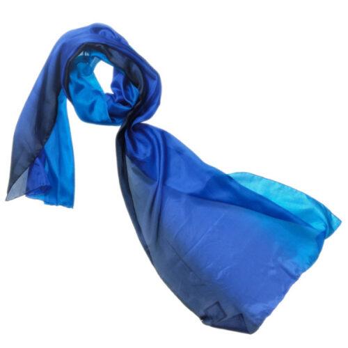 1658 farve 45 tørklæde silketørklæde blå kobolt marine