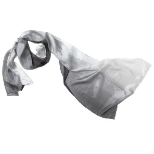 silketørklæde tørklæde silke grå sort 118