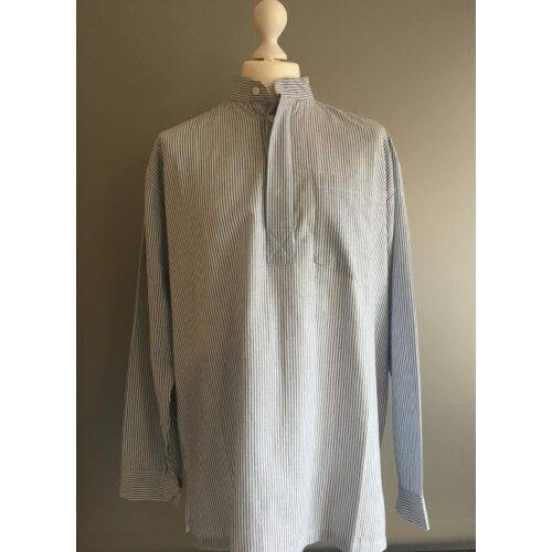 Bondeskjorte i bomuld - Mælkedreng (stof 145), voksen