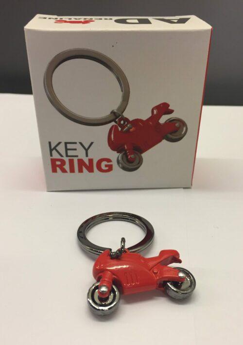 Nøglering Motorcykel - Blank rød
