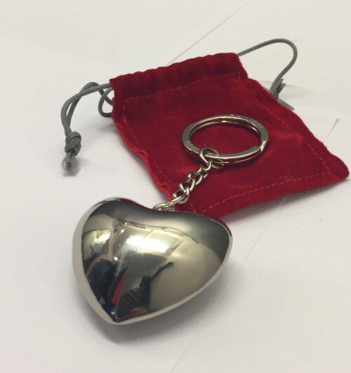 hjerte Nøglering buttet hjerte klokke bjælde antistress