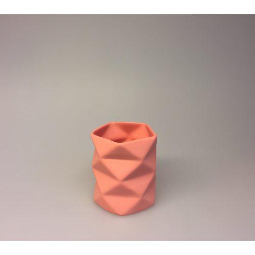 Trine Rytter keramik - Foldemønster koral, keramik, made in denmark, dansk design, håndlavet, håndmodelleret, porcelænsler, koral, coral, varme farver, biti, ribe, kunsthåndværk, brugskunst, specielt, dekoration, enkelt, stilrent, stiligt