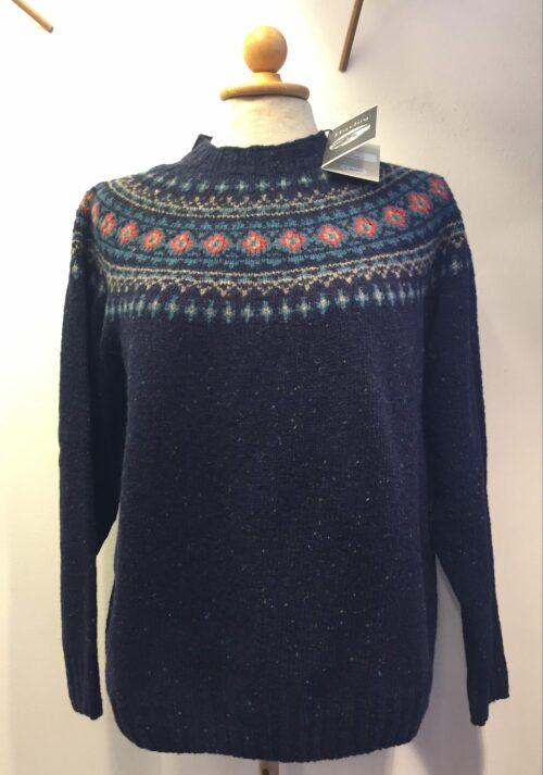 merino tweed færø navy pullover