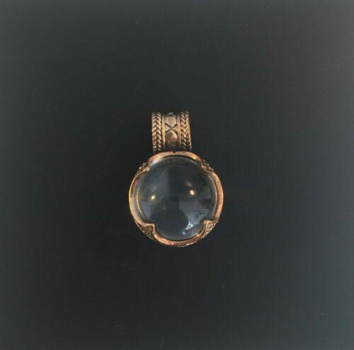 vikingesmykker - vikingevedhæng m gotlandsk krystal