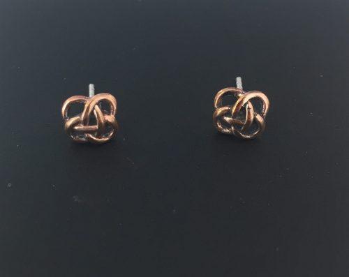 "Vikingeørestikkere i bronze - ""Jordknuden"" Lille smykke - ørestikkere øreringe jordknuden i bronze"