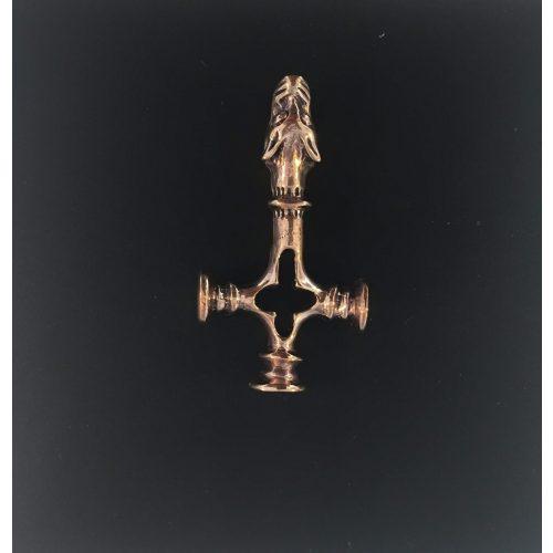 """Vikingevedhæng i bronze - """"Islandsk Kors"""" med Fenris S M vikingesmykke - vikingevedhæng vedhæng bronze vikinge kors ulvekorset islandsk"""