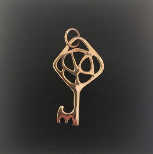 Vikingevedhæng i bronze - Himmelnøgle stor vikingesmykke - vikingevedhæng vedhæng bronze vikinge nøglen til himmeriget