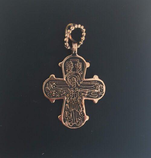 Bronze vedhæng Dagmarkors stort, dronning dagmar, ribe, bronze, bronzekors, gyldent, billigt, stort, kors, smukt, kraftigt, flot, vikinger, vikingetid, vikingesmykker, domkirke, ribe,
