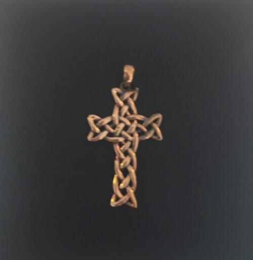 Vedhæng i bronze - Kors keltisk Flet vikingesmykke - vikingevedhæng vedhæng bronze keltisk kors