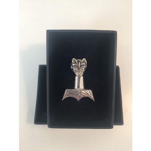 vikingesmykke vikingesmykker vikingevedhæng vedhæng - thorshammer med dragehoved