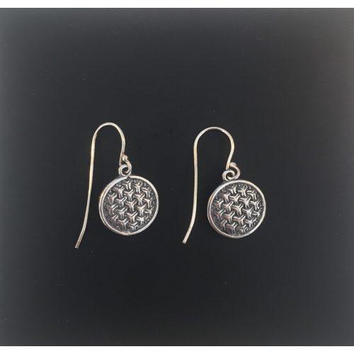 Vikingeørehængere i sølv - Ringkædemønster vikingesmykke vikingesmykker øreringe,ørestikkere ringkæder borrestil i sølv