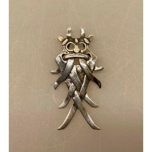 Vikingevedhæng i sølv - Odinmaske L,