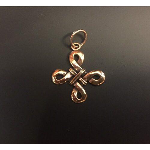 """Vikinge vedhæng i bronze - Kors """"Odins hjerte"""" lille stort"""