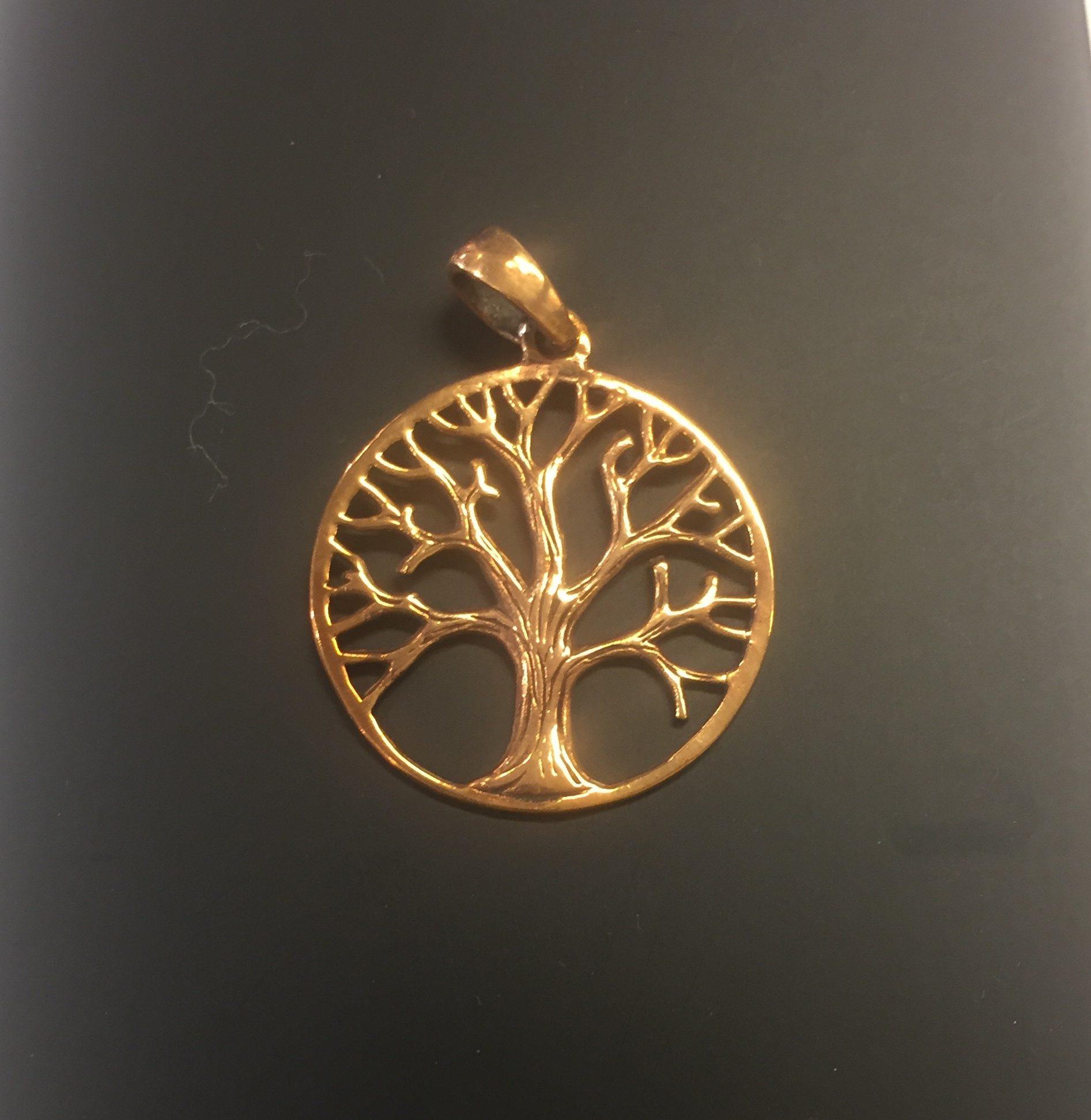 19bda5ef1a0 Vikinge vedhæng i bronze – Livets træ – rund Yggdrasil
