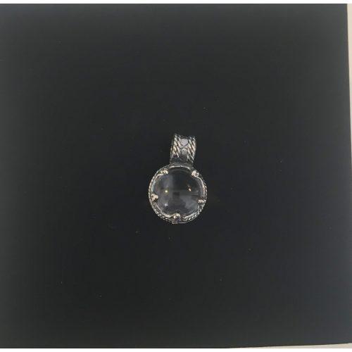 Vikingevedhæng i sølv m. gotlandsk krystal - M,Vikingevedhæng i sølv m. gotlandsk krystal, vikingesmykker, vikingesmykke, ribe, nordisk, mytologi, guder, aser, asatro, vikingefund, fund, sølvskat, middelalder, vikingetid, bjergkrystal, krystalkugle, forstørrelsesglas, gottland, museumssmykker, sølv, ægte, vedhæng, halskæde, original, smukt, amulet, lykkebringende, kopismykke, vikingekopi, biti, ribe , ansgar, dronning, dagmar,