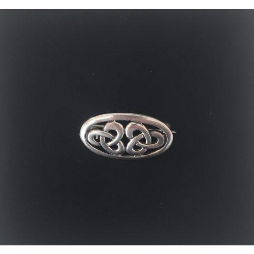 vikinge broche i sølv keltisk lille oval