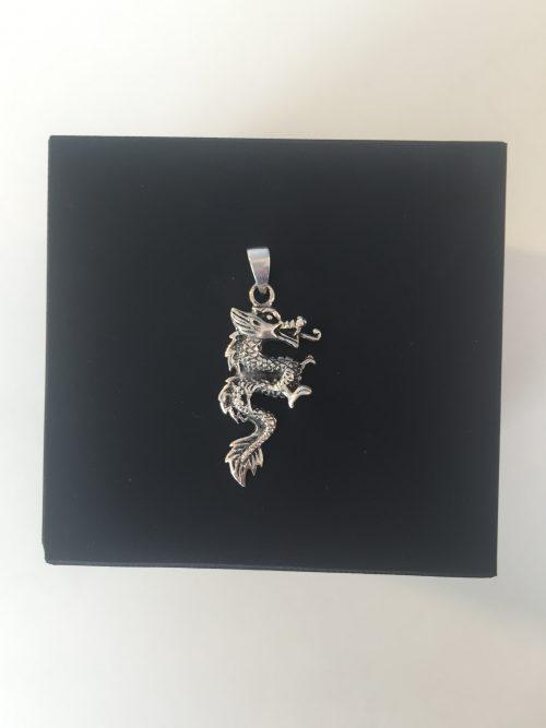 Vikingevedhæng i sølv - Drage