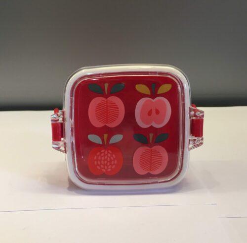 Snackboks med klemmer - Røde æbler