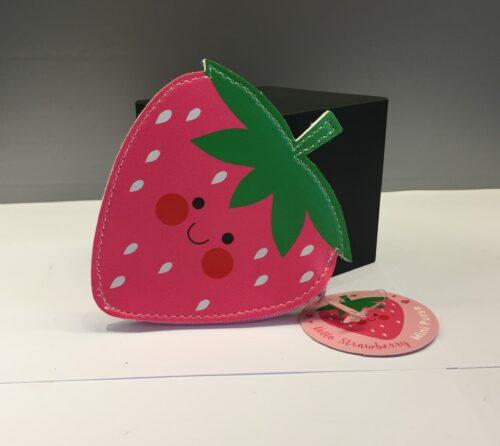børnepunge pung til børn jordbær jordbærpung