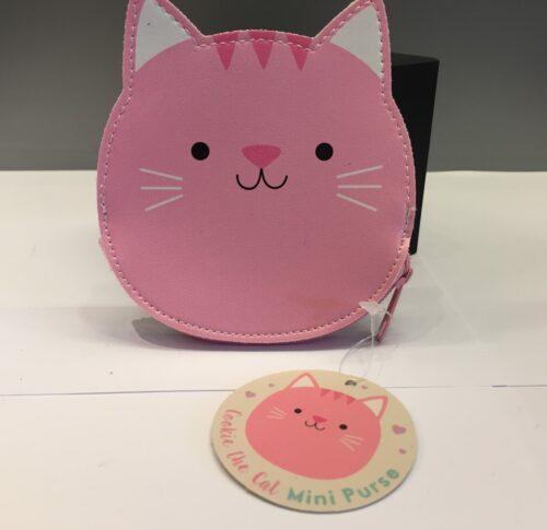 pung lyserød kat katte pung pung til børn børnepung