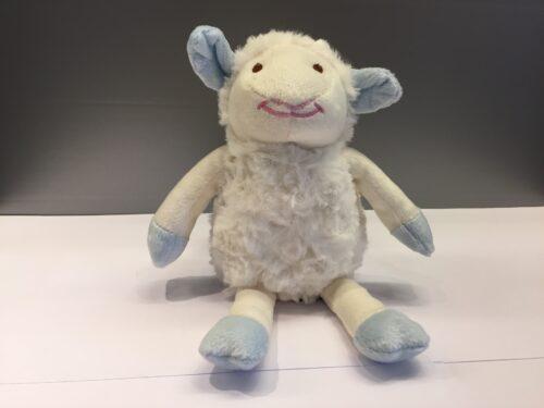 Blød bamse - Lille lam lyseblåt, bamse, får, lam, lammebamse, krammedyr, sovedyr, puttedyr, lambi, fårebamse, bamselam, marksen, vadehavet, nationalpark, ribe, mandø,