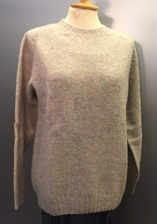 """Harley of Scotland - Dame pullover - """"Lambswool"""" Pastel Mix"""