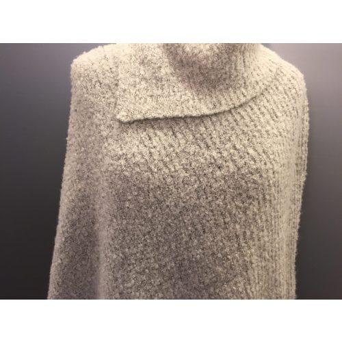 grå poncho uld