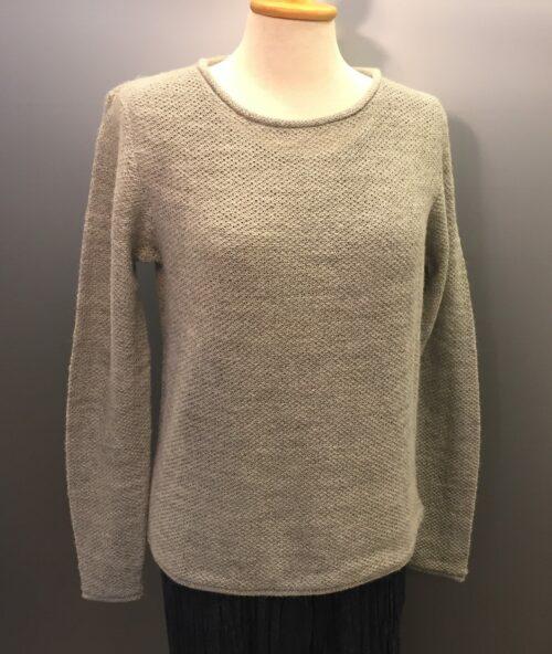 pullover alpaca uld grå