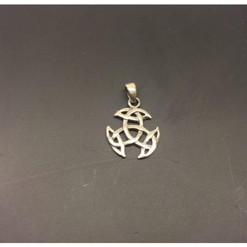 Vikingevedhæng i sølv - Det kosmiske hjul lille, kosmisk hjul, evighed, uendelighed, magiske tal tre, magisk 3, keltisk, vikingetid, vikingesmykke, vikingevedhæng, vikingefund, amulet, beskyttelse, lykkebringer, sølv, ægte, sterling, sølvsmykke, sølvvedhæng, museumssmykke, museums, kopi, kopismykker, fund, ribe, biti
