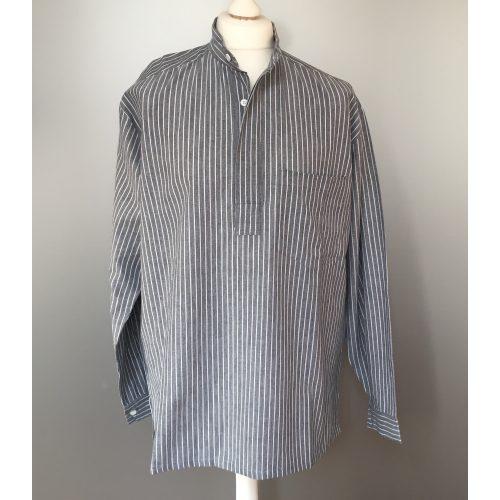 Bondeskjorte i bomuld - Grå (stof 974), voksen