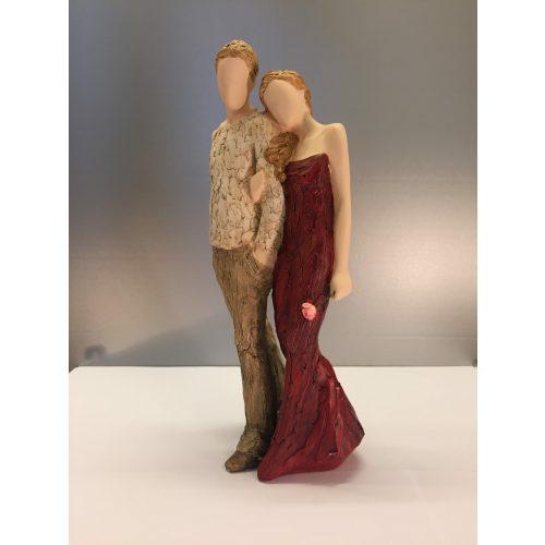 """Arora """"More than words"""" - Par, arm i arm - Everlasting Love rød - Par, arm i arm """"Everlasting Love"""" - kærlighed - bryllup - bryllupsgave - sølvbryllup - brudepar - kobberbryllup -"""