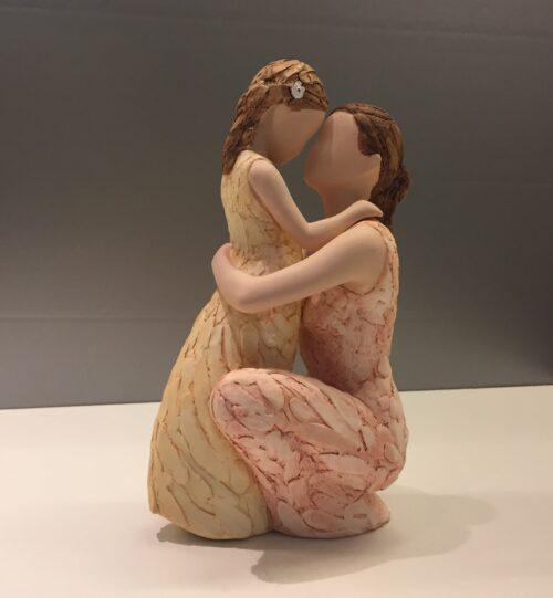 "Arora ""More than words"" - Mor med lille pige - Loving Arms - omsorg - Mors Dag - Morsdagsgave - papmor - reservemor - moster - faster - gudmor"