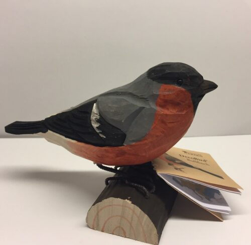 Naturens fugle - Wildlife Garden - håndskåret af træ - Dompap