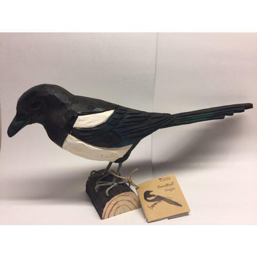 Naturens fugle - Wildlife Garden - håndskåret af træ - Skade