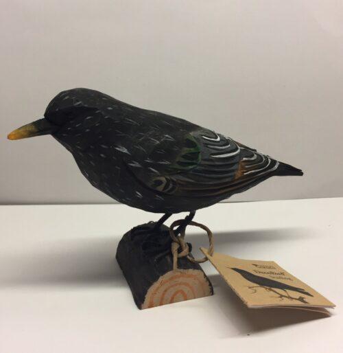 Naturens fugle - Wildlife Garden - håndskåret af træ - Stær