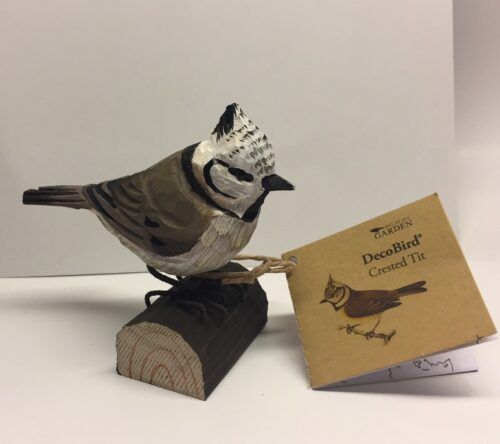 Naturens fugle - Wildlife garden - håndskåret af træ - Topmejse