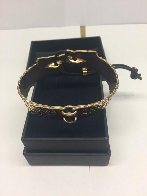 vikingesmykker bronze armbånd med fenris ulven