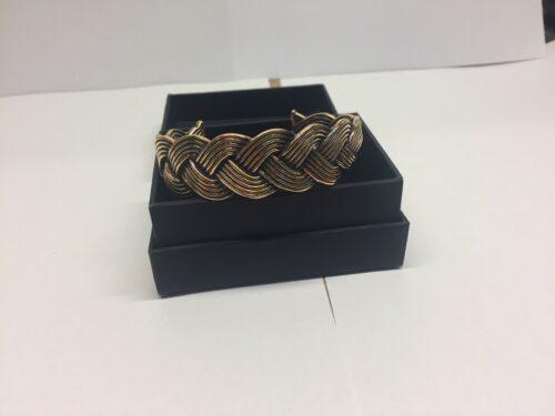 vikingearmbånd bronze bred flettet armbånd