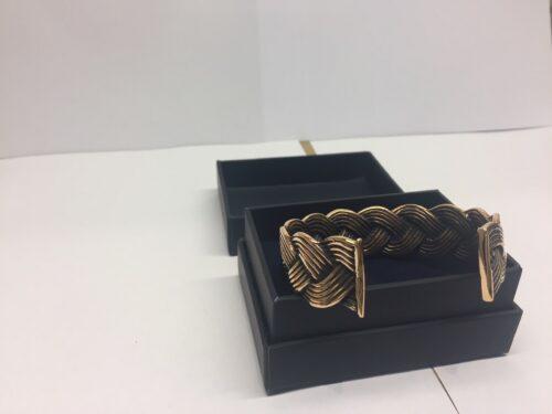 vikingesmykker bronze armbånd flettet