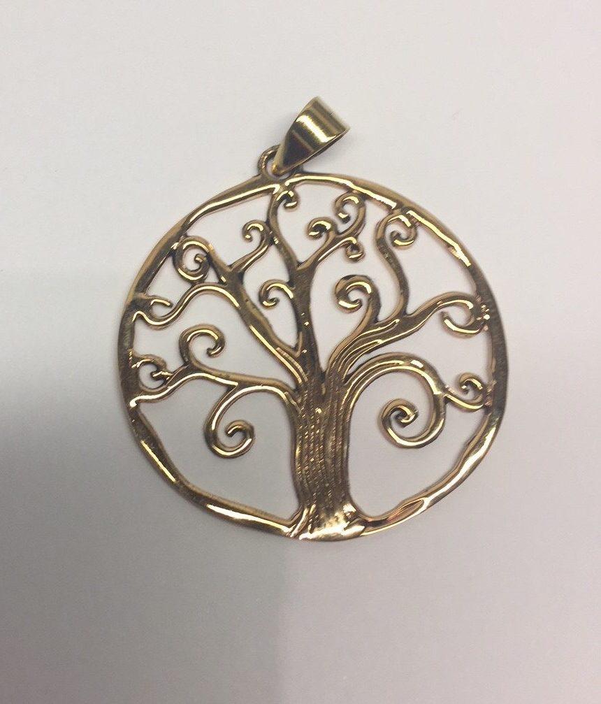 """7908bfcc024 Vikinge vedhæng i bronze – Livets træ """"Yggdrasil"""" med snirklet krone"""