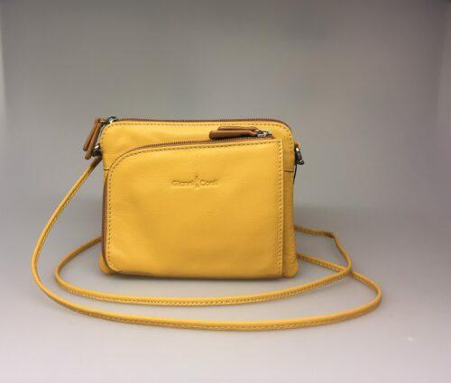 Lille Taske med integreret pung (5510) - Kalveskind Gul