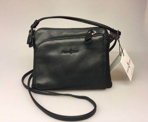Lille Taske med integreret pung (5510) - Kalveskind Sort