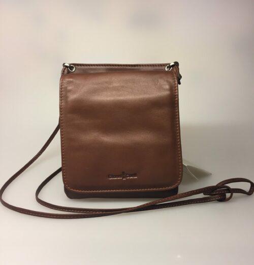 Taske med integreret pung (5513) - kalveskind Brun