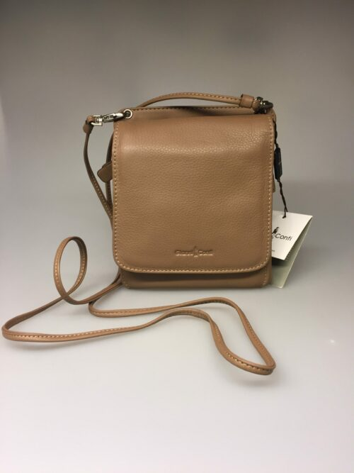 Taske med integreret pung (5513) - kalveskind Muflon brun