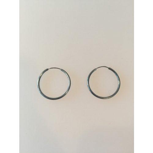 creoler øreringe hoops sort oxideret sølv