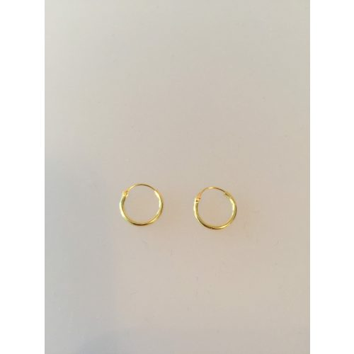 Creoler - Ø 12 mm øreringe forgyldt sølv - glatte Hoops, øreringe, ørenringe, hoops, loops, creol, creoler, runde. runde ringe, guld, ægte, forgyldt, forgyldte, guldbelagt, stine a, maanesten, pico, billige, gode, god kvalitet, moderne, cool, in, smarte, enkle, stil,